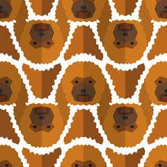 Seamless polygonal pattern with poodle head. Texture for wallpaper, fills, web page background.