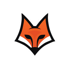Fox head icon. Logo for your project. Vector illustration.