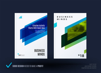 Abstract design of business vector template, brochure