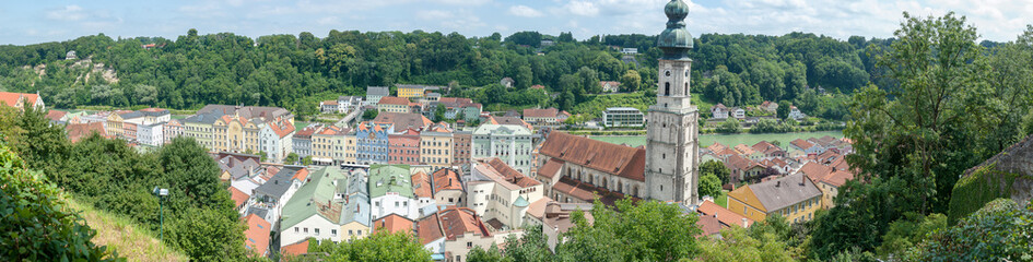 Burghausen in Bayern Panorama