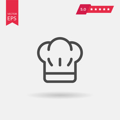 Chef hat sign icon. Cooking symbol. Cooks hat with fork and spoo