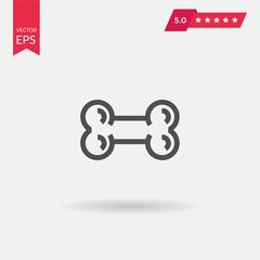 Bones flat icon. Single high quality outline symbol of human bod