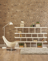 decorative homde design bookshelf and office style