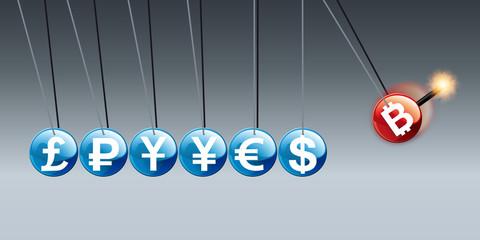 bitcoin - monnaie - paiement - en ligne - virtuelle - pièce - commerce - argent - économie - risque