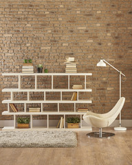home bookshelf home office style with furnitures