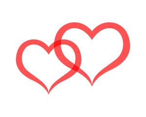 Love valentine icons logo