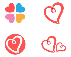 Love valentine icons logo