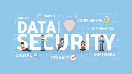 Data scurity concept illustration.