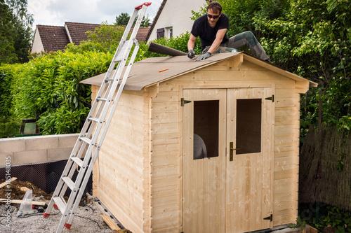 construction chalet de jardin\