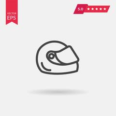 Racing helmet icon. Moto helmet illustration.