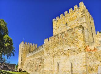 Castle Fort  Castelo de San Jorge Lisbon Portugal