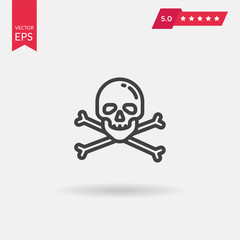 Skull And Bones Icon. Professional, pixel perfect icons optimize