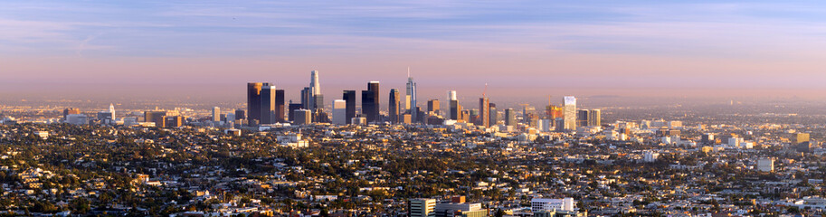 Beautiful Light Los Angeles Downtown City Skyline Urban Metropolis
