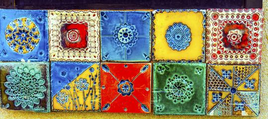 Colorful Ceramic Tiles Souvenirs Handicrafts Lisbon Portugal