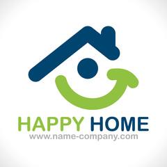 logo maison positive sourire