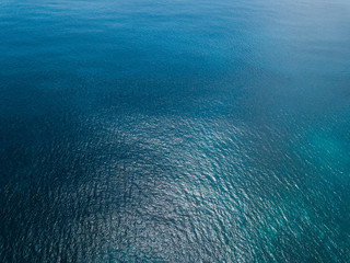 Wall Mural - Aerial view of sea surface