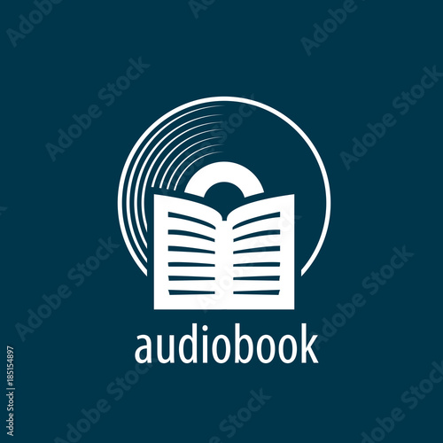 audiobook vector logo template stock image and royalty free vector