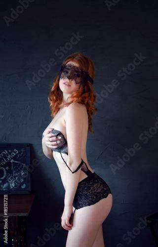 Photo redhead underwear