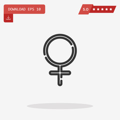 Female symbol for website design, mobile application, ui. Vector