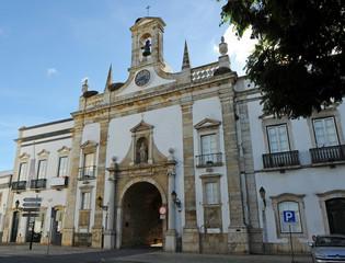 Arco da Vila in Faro old town, Algarve, south of Portugal