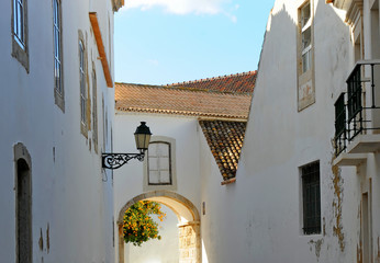 Streets of Faro, Algarve, Portugal