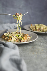 Vegan Paleo Mushroom Zoodles (Zucchini Noodles)