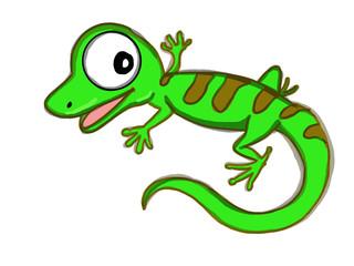 cute lizard illustration cartoon drawing