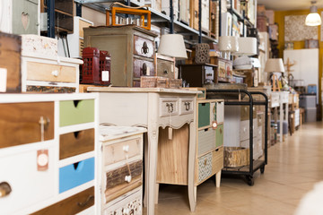 Furniture selling in modern store