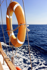 Rettungsring vom Segelschiff