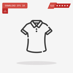 T-shirt Icon in trendy flat style isolated on grey background. S