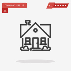 Home Icon in trendy flat style isolated on grey background. Home