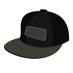 black Baseball cap on white background