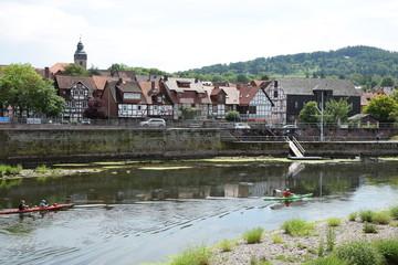 Foto auf Leinwand Fluss Witzenhausen
