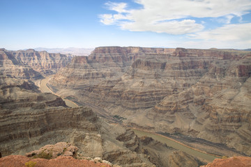 The stunning view of the West Rim of the Grand Canyon
