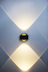 LED decoration lights idea on wall create shape with light and shadow. Modern wall lamp