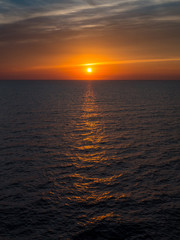 Sunset from a cruiseship