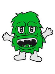 haarig süß niedlich frech klein monster horror halloween böse ork troll comic cartoon clipart