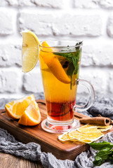 Hot Citrus Tea with Orange and Cinnamon
