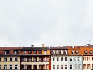 Facade of European architecture.