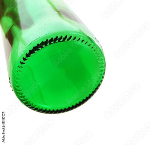 Bottom out of beer bottle