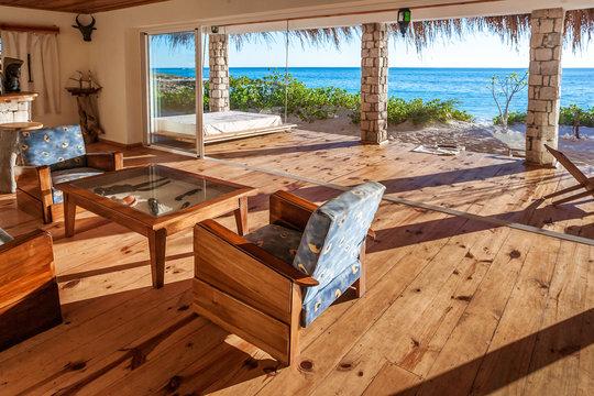 Inside a luxurious suite