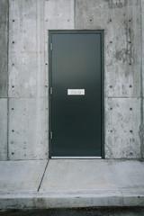 Grey stairwell door