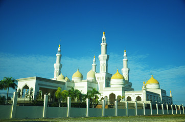 Exterior of mosque in Cotabato Philippines photo