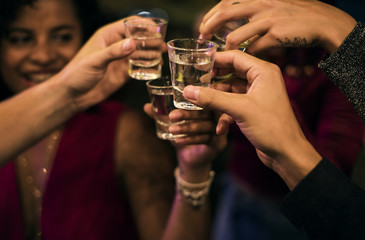 People celebrating in a party
