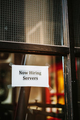 Now Hiring Servers
