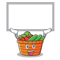 Up board fruit basket character cartoon