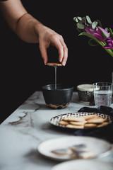 Making marble cookies