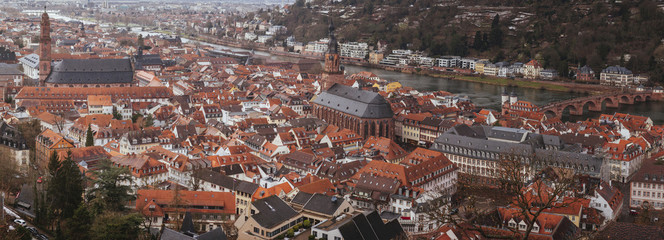 Cityscape of Heidelberg, Germany.