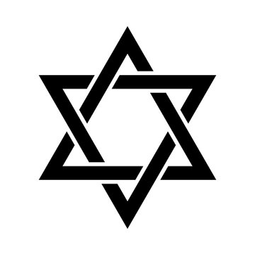 «Magen David» (The Shield of David, or The Star of David, or The Seal of Solomon), the Jewish Hexagram. Traditional Hebrew sign and one of the main symbols of Israel, Judaism and Jewish identity.