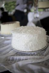 Beautiful White Coconut Cake - Wedding Cake Assortment